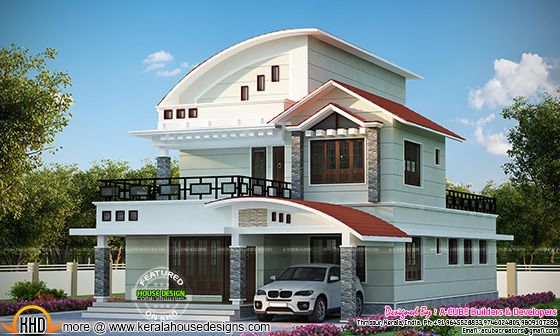 2397 sq-ft Kerala home design