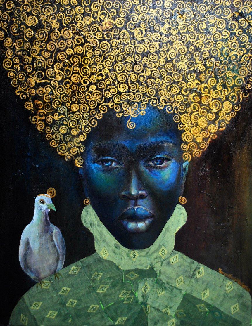 paintings of black jamaican women