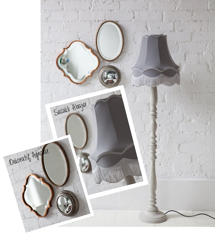 Dekoratif Aynalar - Sacakli Abajur