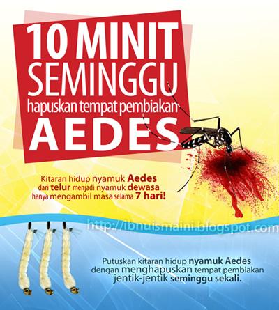 kempen 10 minit hapuskan Aedes, Denggi
