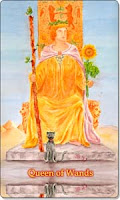 Queen of Wands, Aquatic Tarot, www.aquatictarot.de