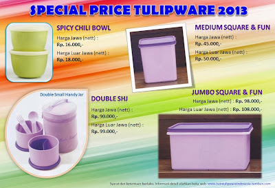 Special Price Tulipware 2013, Tulipware Oktober - November 2013