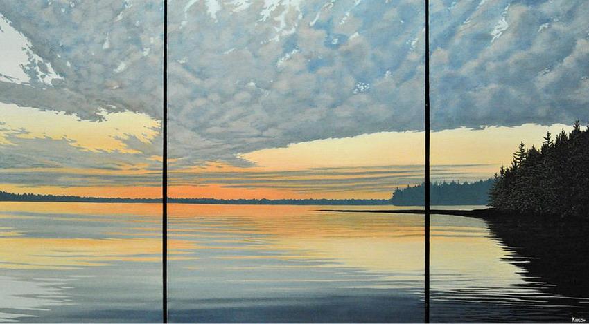 Im genes arte pinturas atardeceres marinos en paisajes - Cuadros de atardeceres ...