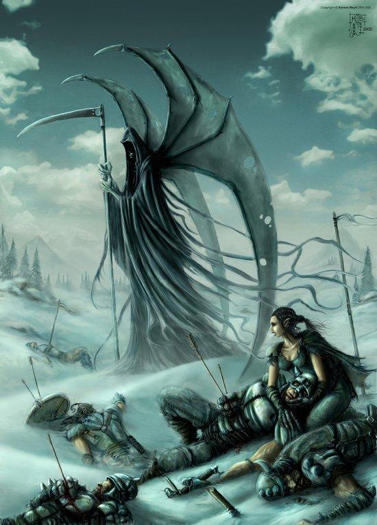Kerem Beyit deviantart ilustrações fantasia card games