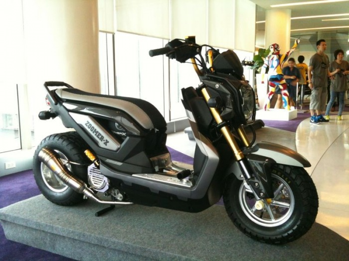 gambar modifikasi Honda Zoomer-X minimalis title=