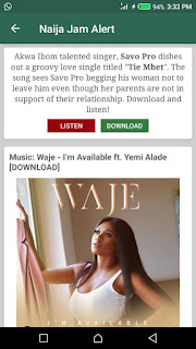 Music promoted on Naija Jam Alert android app