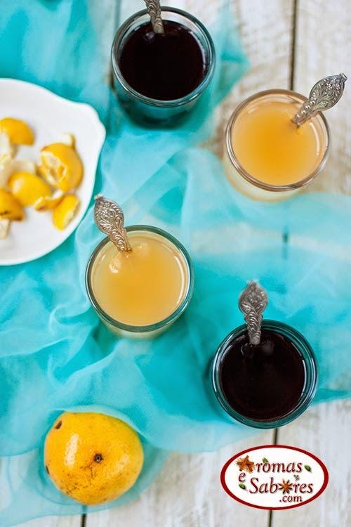 Gelatina com suco natural