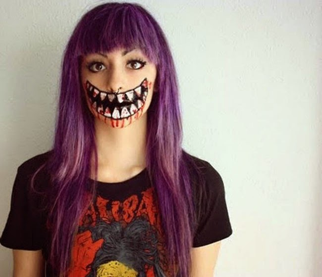Halloween Awesome Face Makeup