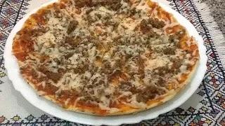 طريقة عمل البيتزا بدون فرن في 30 دقيقة وصفة سهلة، قتصادية و سريعة Pizza Sans Four