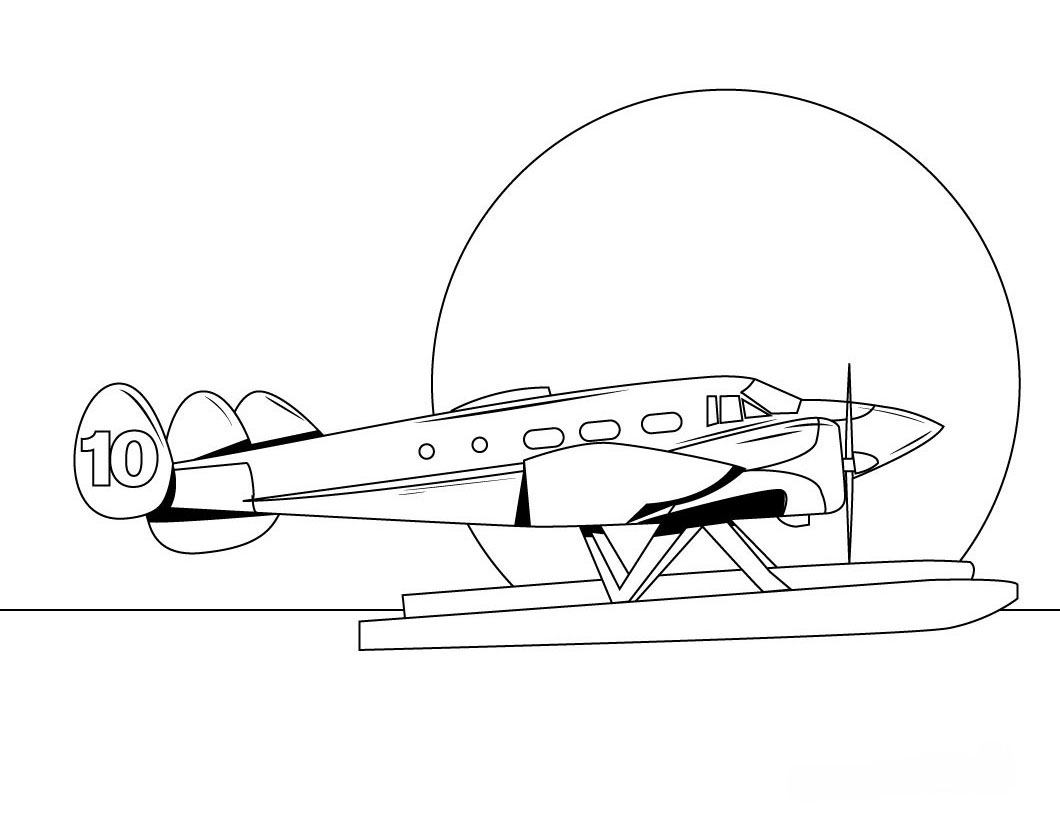 airplanes coloring pages - photo#31
