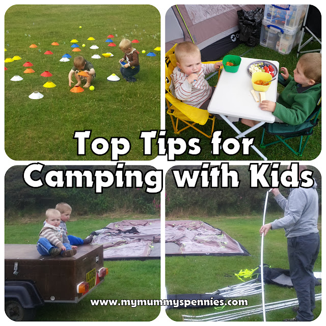 top tips for camping with kids