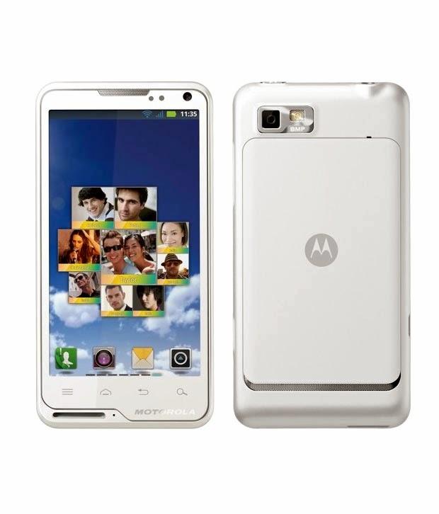 Мобильный телефон Motorola Motoluxe XT615 White с солидным широко форматным четырехдюймовый дисплеем