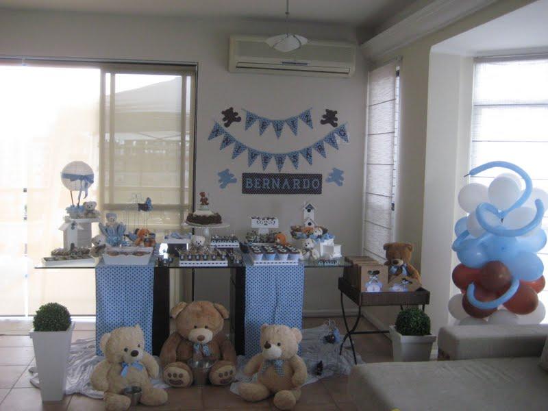 decoracao festa urso azul e marrom:Festa Ursos Marrom e Azul