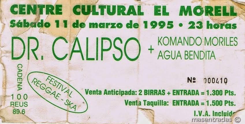 entrada de concierto de dr.calypso