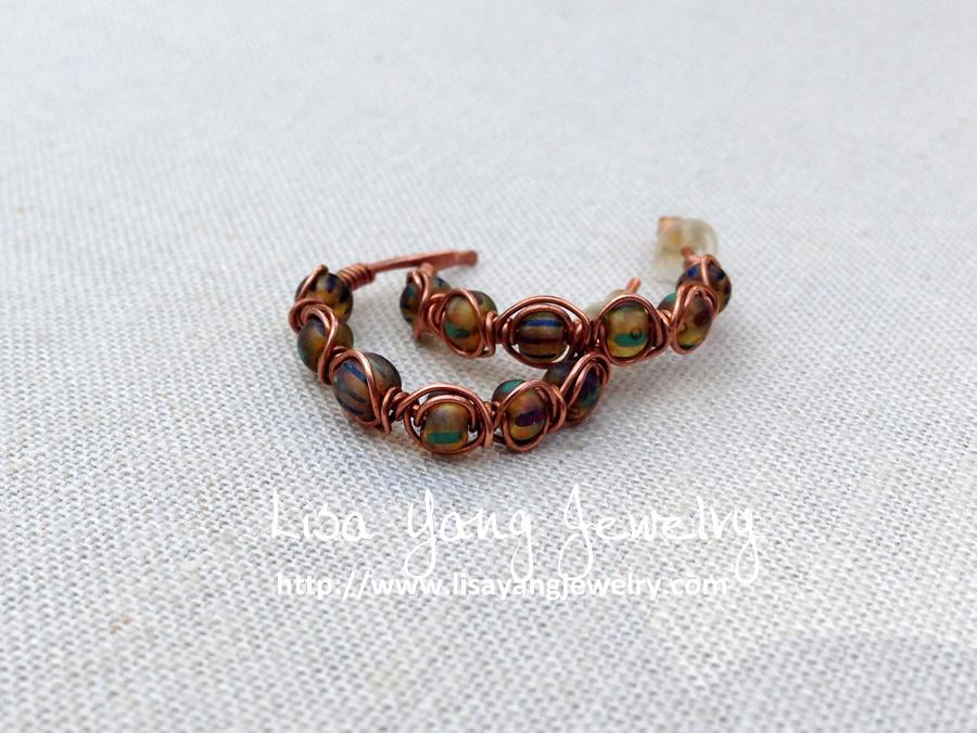 Lisa Yang\'s Jewelry Blog: Making Herringbone Weave Beaded Hoops