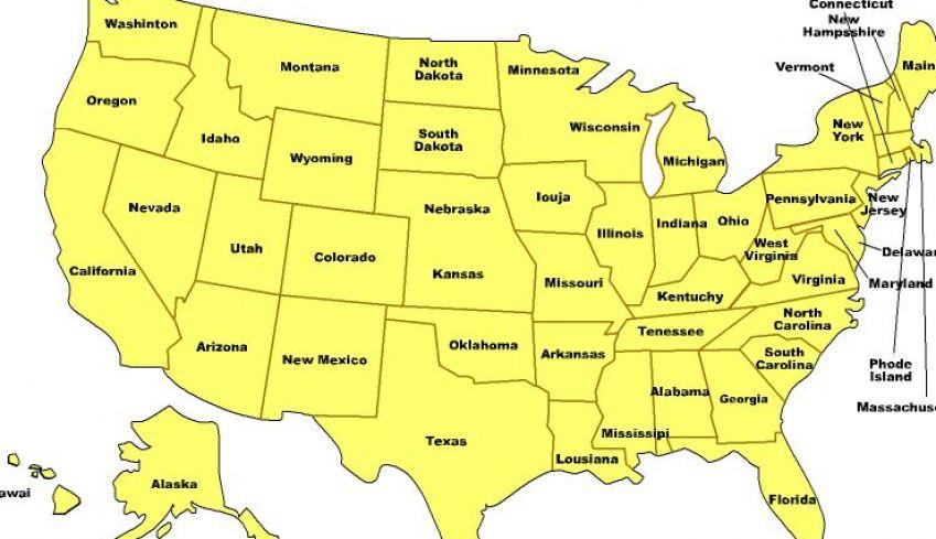 ciudades de estados unidos en mapa