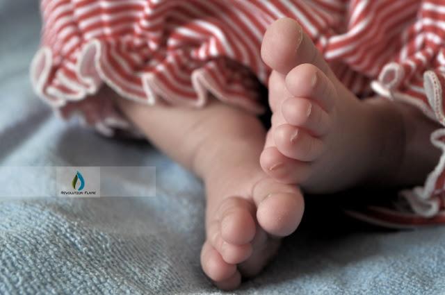 Cute White Fluffy Feet of Newborn Pakistani Child