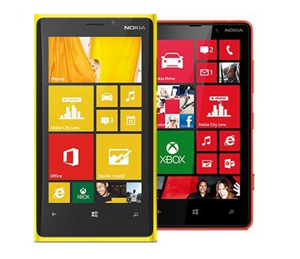 Harga Nokia Lumia 920 dan Lumia 820