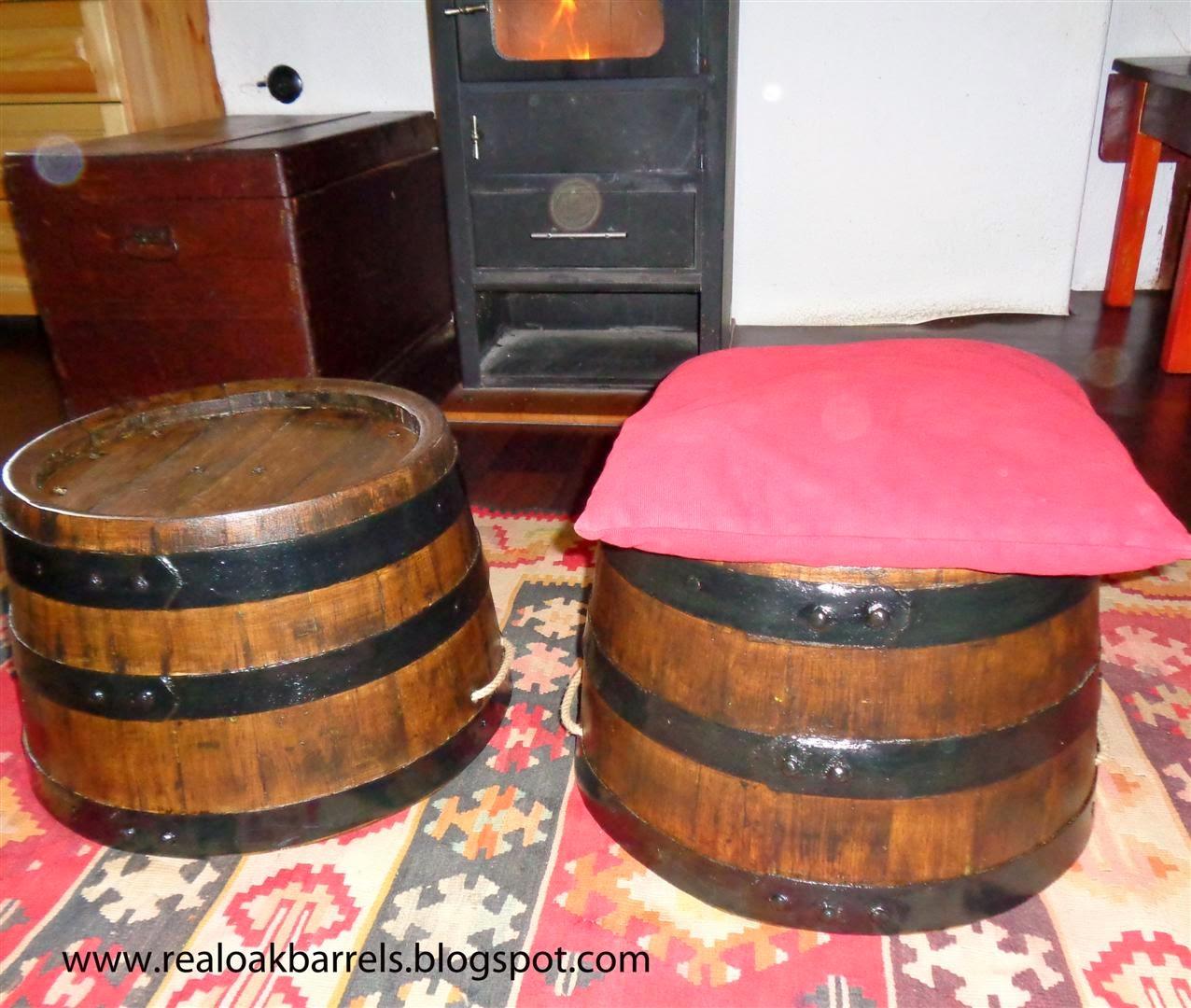 Rustic Brandy Oak Barrel Seats,Stools ,Planter,Flower Pots,Garden Furniture