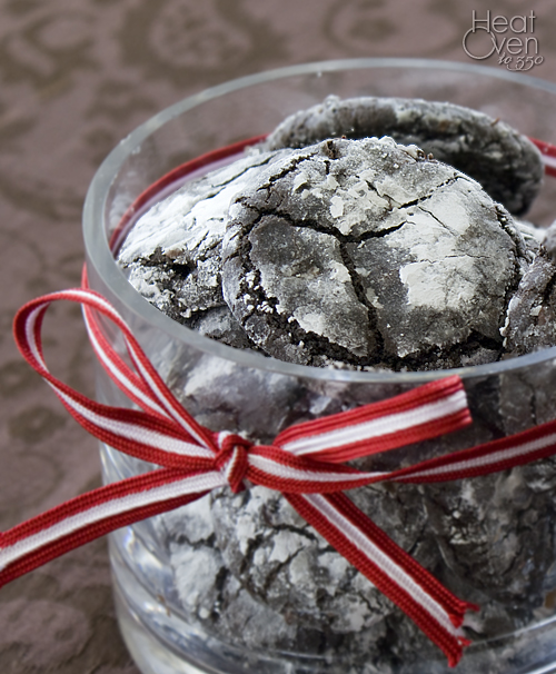 Cherry Chocolate Crinkle Cookies