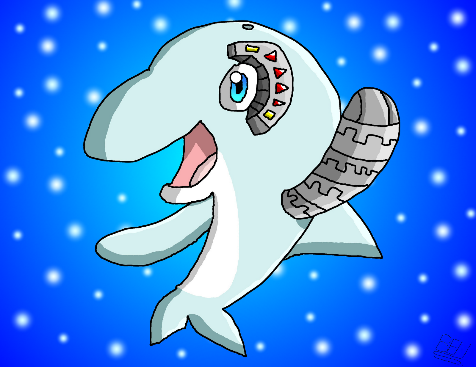 Demo comic inc robot dolphin for Robot dolphin