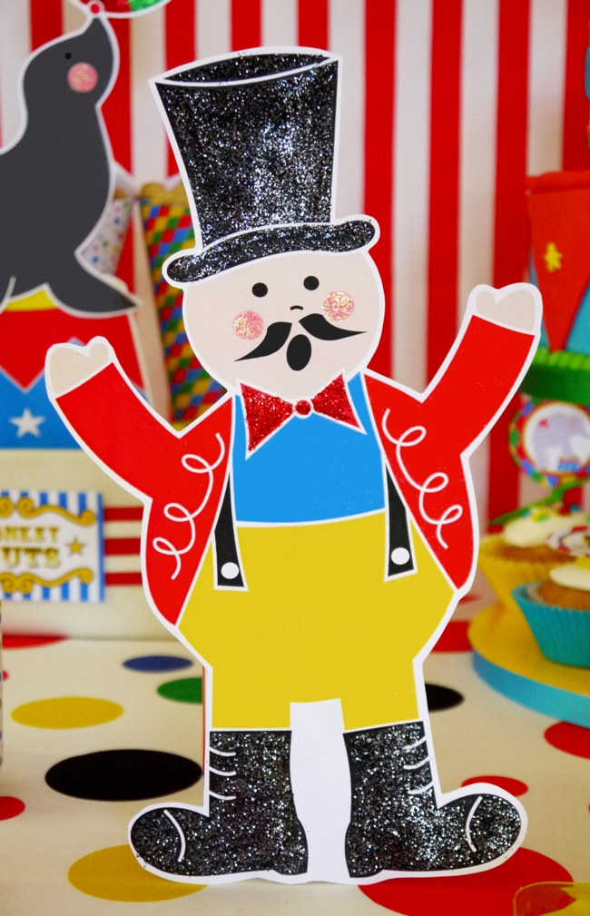 Big Top Circus Carnival Inspired Birthday Party Ideas and Printables decorations