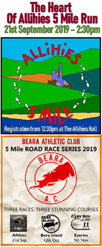 Allihies 5 mile - 1st race of 3 in the Beara Series - Sat 21st Sept 2019
