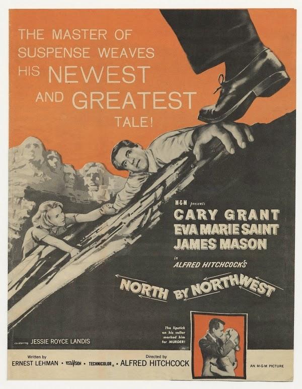 1001 películas que debes ver antes de forear. Poner el titulo. Hasta las 1001 todo entra! North+By+Northwest+-+cartel+antiguo+rojo