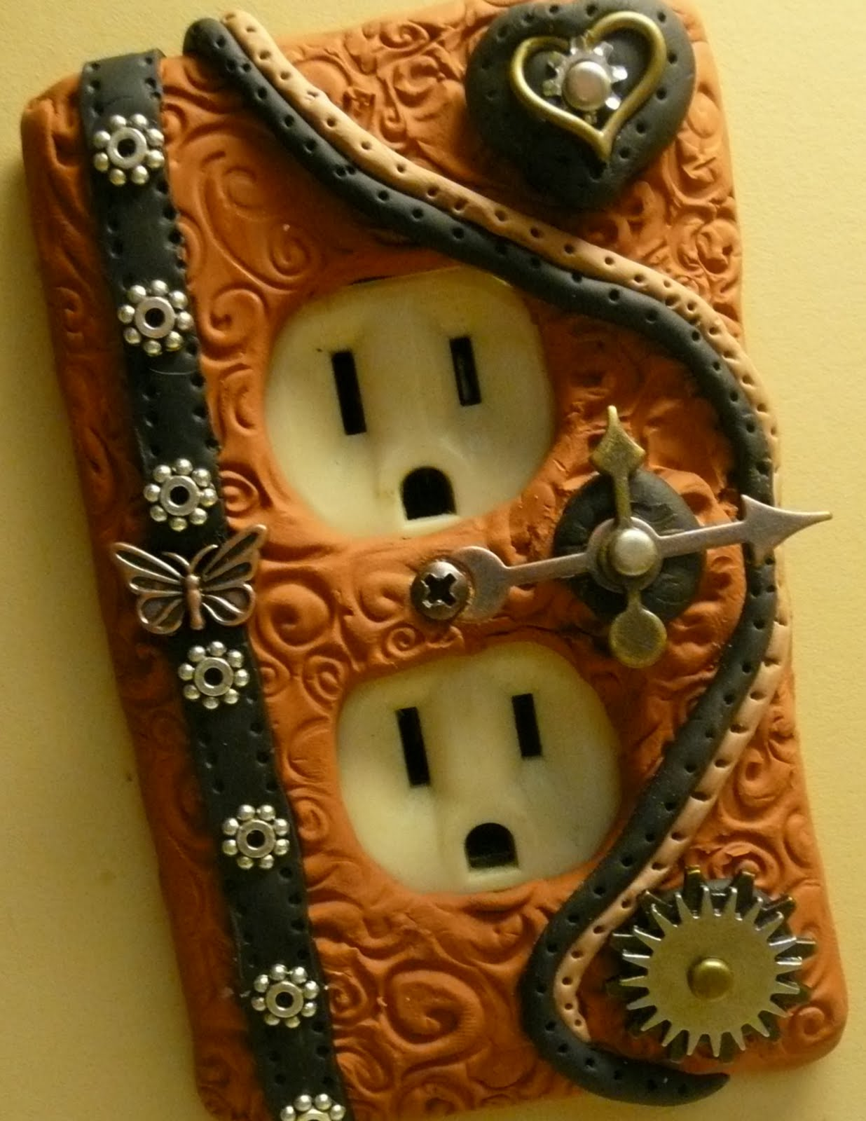 Sandys Creations In Clay Unique Polymer Clay Light Switch Covers