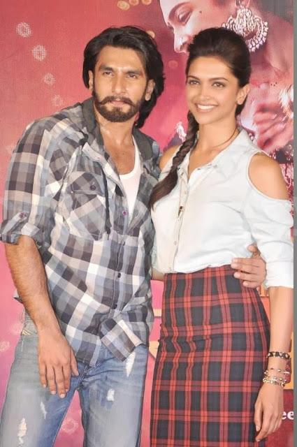 Ranveer & Deepika promoting Ram Leela in Mumbai