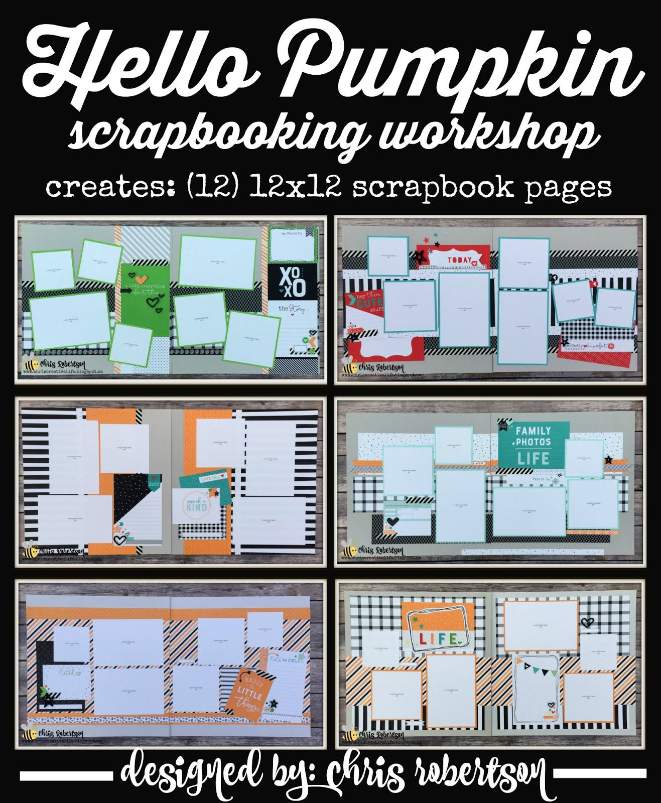 Hello Pumpkin Scrapbooking