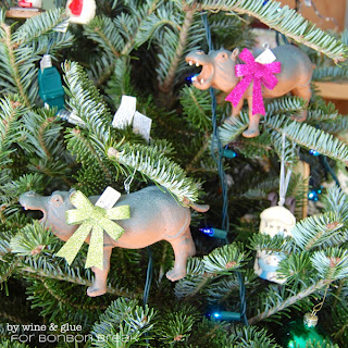 I Want a Hippopotamus Christmas Ornament by Lisa Longley of Wine & Glue hippo ornament