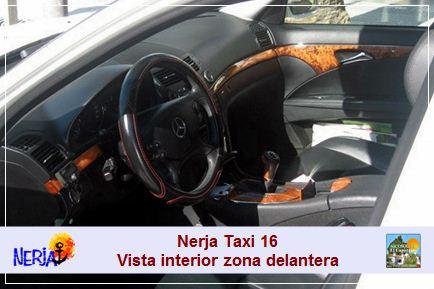 Nerja taxi 16 - Tapicería de piel, interior de madera, climatizador bi-zona, etc.