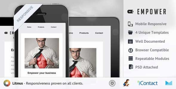 Empower – Responsive E-mail Template