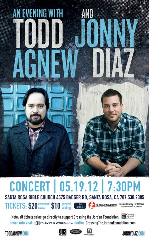 Todd Agnew and Jonny Diaz in Concert - Santa Rosa