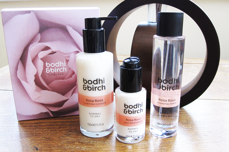 Bodhi & Birch Rosa Rosa Range - Clarifying Cleanser, Hydrating Toner and Daily Moisturiser