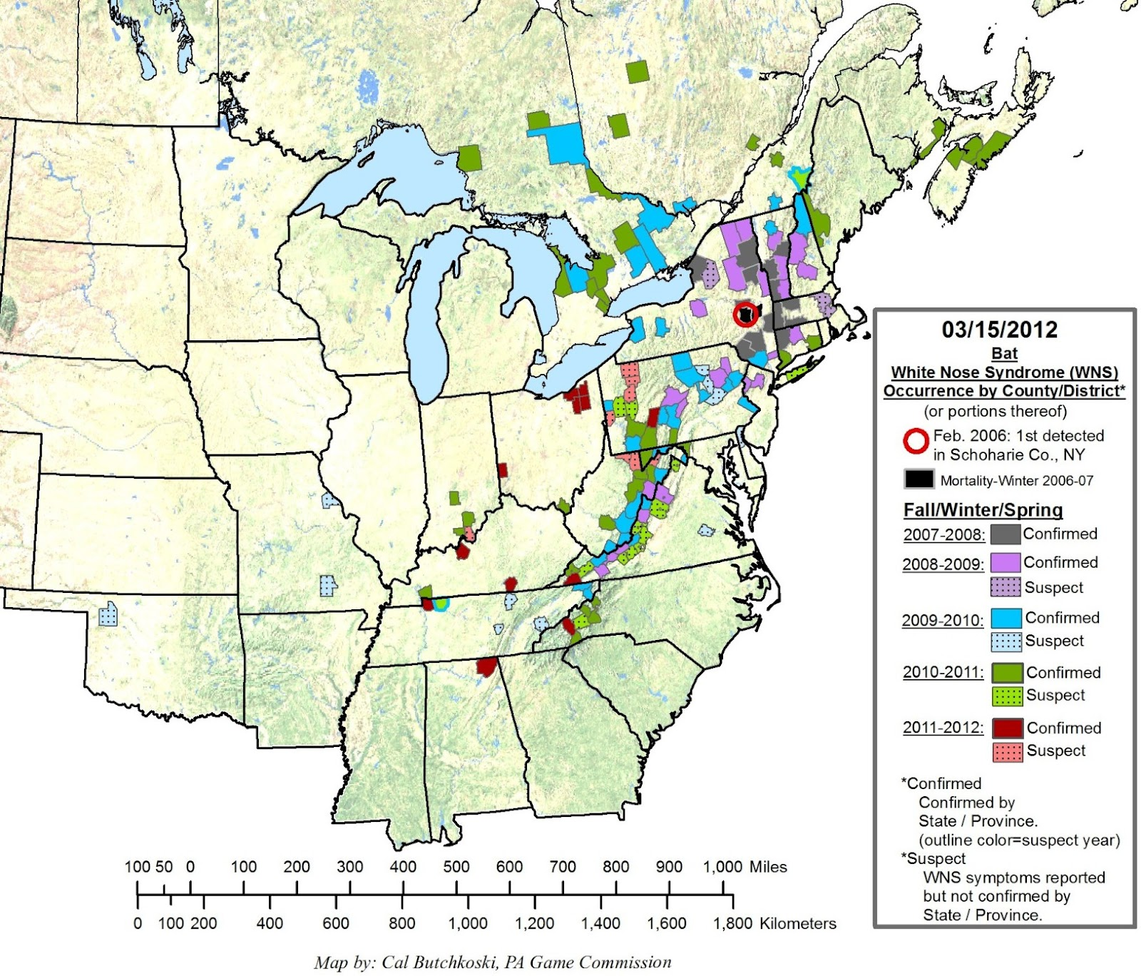 Update On Wisconsin Bats Woods Person - Map of america wisconsin