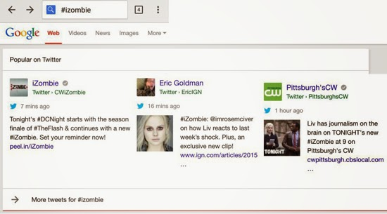 Twitter Google Tweets Search Engine Results