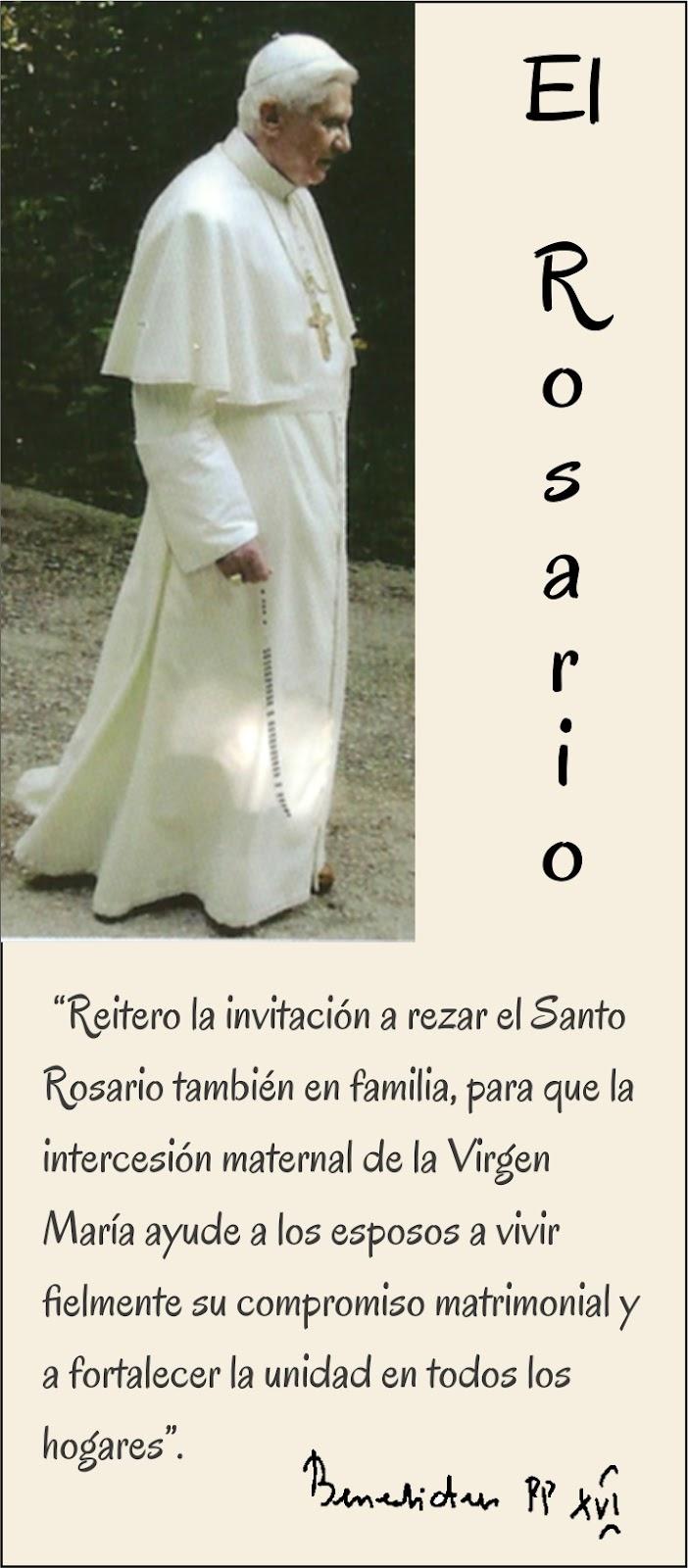 Tarjetas y oraciones catolicas frases del rosario benedicto xvi thecheapjerseys Choice Image