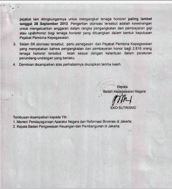Lampiran 2 Hasil Audit Tujuan Tertentu (ATT) Tenaga Honorer Kemenag Kategori 1 (K1) 2013