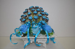 Chocolate Rose Blue Set Hantaran