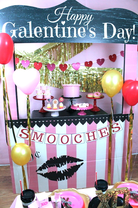 galentine 39 s day party valentine party ideas laura 39 s. Black Bedroom Furniture Sets. Home Design Ideas