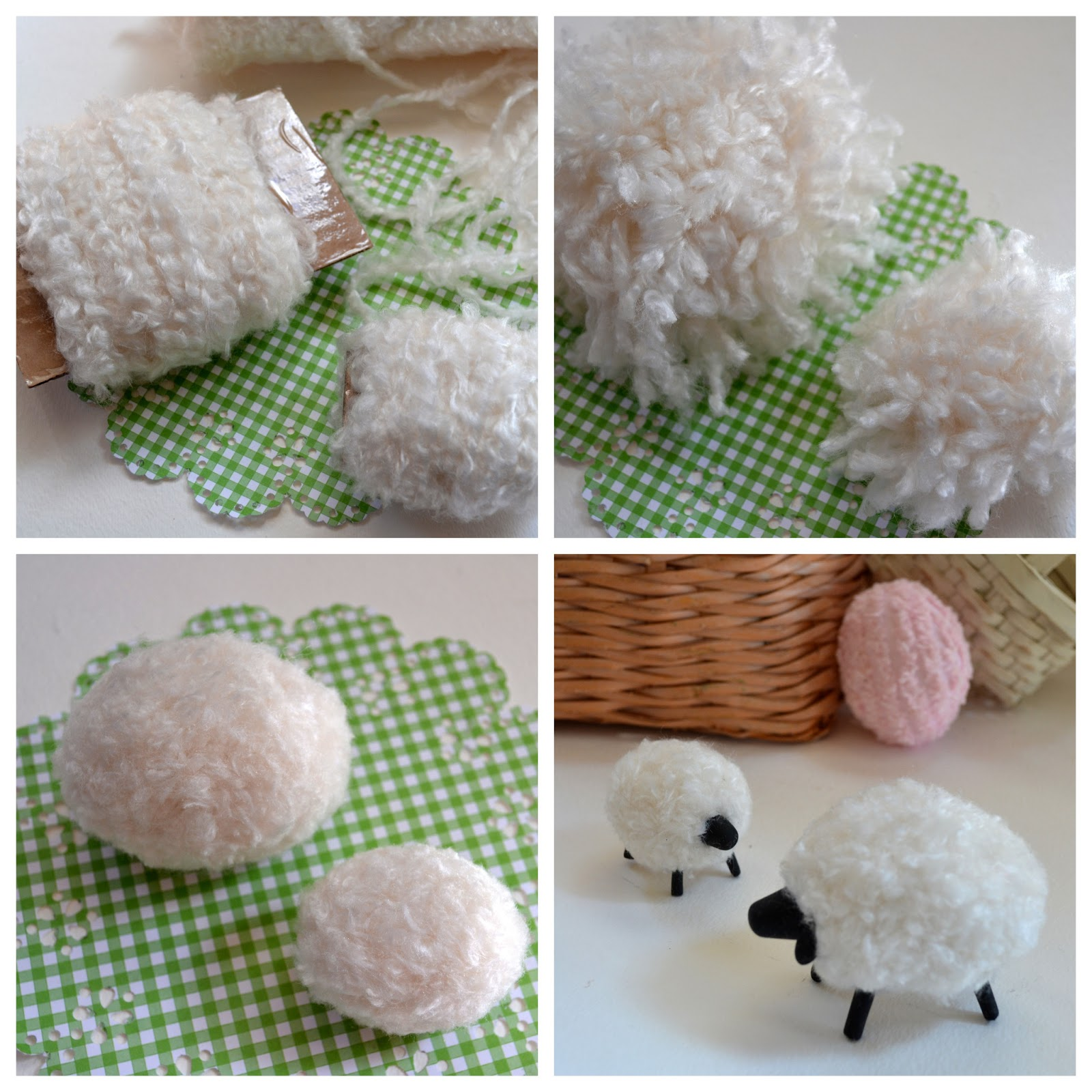 Honemade Pompoms Using Kitchen Chair