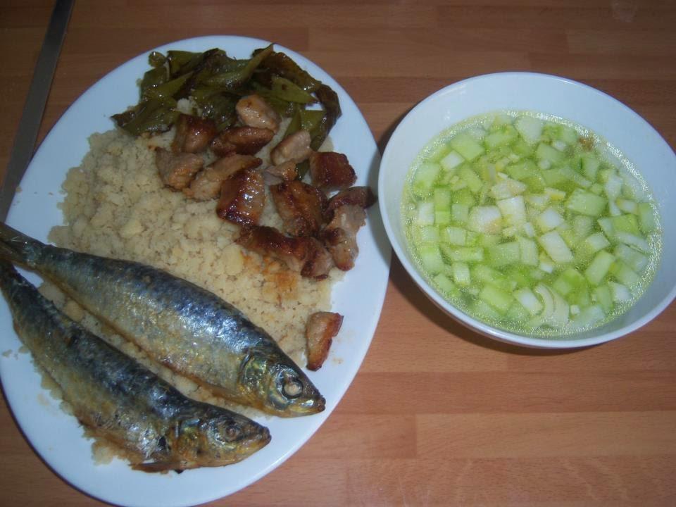 migas, sardinas, gazpacho almeriense, Almeria