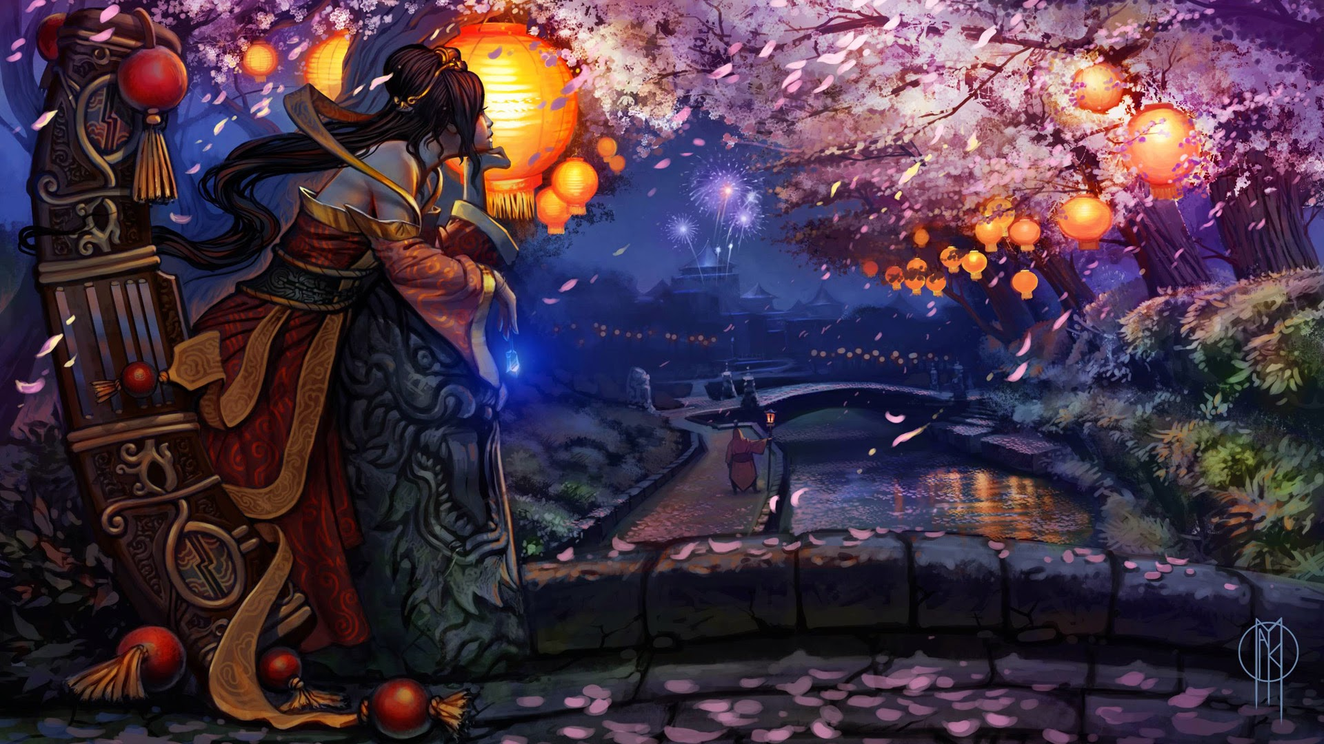 sona hd wallpaper league of legends champion lol cherry blossom    Sona Champion