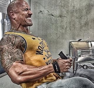 la impresionante foto de the rock publicada en instagram, the rock wwe en el gimnasio fotos, gimnasia de un luchador profesional