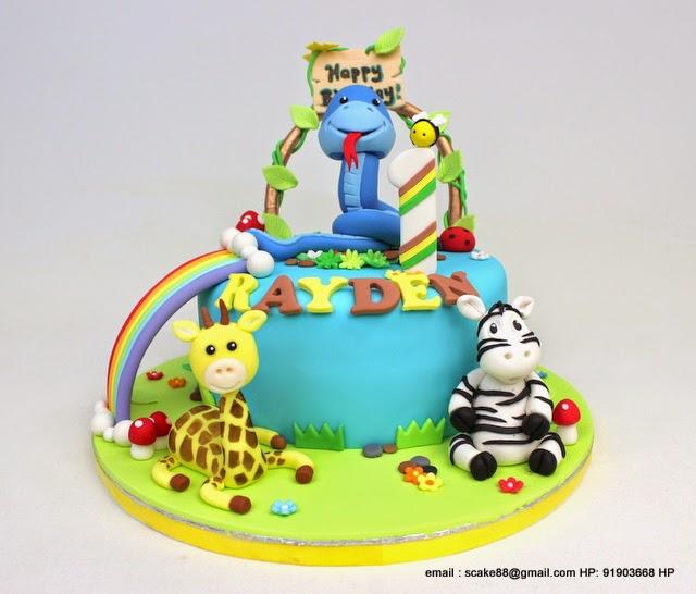 The Sensational Cakes: CUTE BABY SNAKE 3D CAKE SINGAPORE