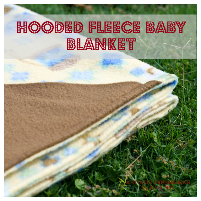 Baby Fleece Blanket With Hood Make a Hooded Baby Blanket