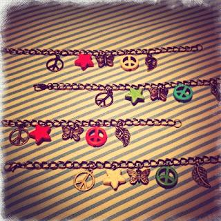 happy uky pulseras paz y mariposa