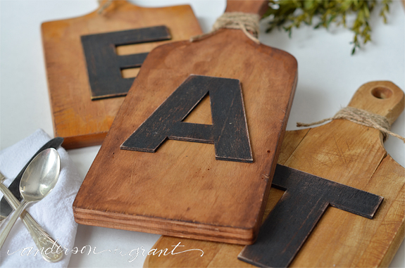 DIY Kitchen Art made from old cutting boards | www.andersonandgrant.com